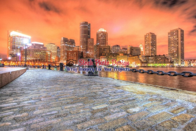 Boston-Cityscape-and-River-at-Night Image